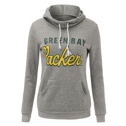 New autumn winter Super Bowl team Green Bay Packers women ladies hoodie  sweatshirt long sleeve fleece 896718419