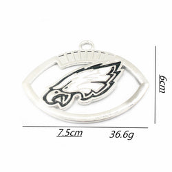 Newest 1pcs/lot football team big Sports Philadelphia Eagles Dangle Charms Hanging Necklace&Bracelet floating charms Jewelry