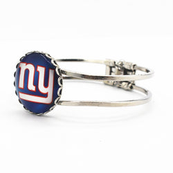 Newest New York Giants football team charms silver alloy bracelet 6pcs/lot fashion sports bracelets jewelry fit man woman