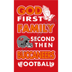 Newest custom Tampa Bay Buccaneers flag God First Family Second then Tampa Bay football flag 100D Polyester with 2 gromments