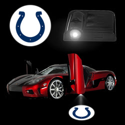 Novelty Car Logo Light INDIANAPOLIS COLTS Wireless Car Door Stick LED Lamp AAA Battery Laser Lights LED Lighting Car Styling