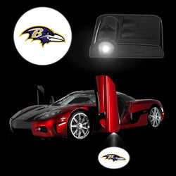 Novelty Interior Car Decor LED Lamps BALTIMORE RAVENS Wireless Car Logo Door Lights Smart Car Accessories Lighting for Ford BMW