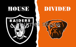 Oakland Raiders Banner Vs Cleveland Brown Flag Sports Team World Series Oakland Raiders Flag And Cleveland Browns Banne