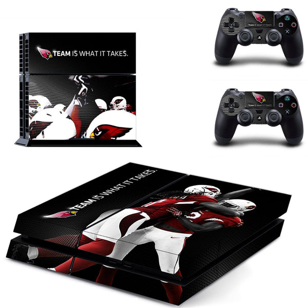 PS4 Arizona Cardinals Skin Sticker Decals for PlayStation4 Console and 2 controller skins
