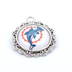 Pendant Accessories Miami Dolphin Charms Accessories for Bracelet Necklace for Women Men Football Fans Paty Fashion 2017