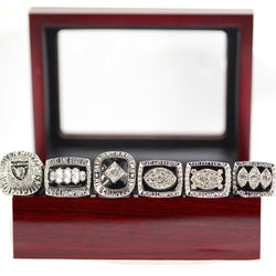 Replica Oakland Raiders Super Bowl Set Six pieces Solid Alloy Championship Ring Sets Size 11