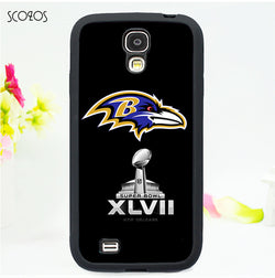 SCOZOS baltimore ravens superbowl cell case for Samsung galaxy S3 S4 S5 s6 s7 s6 edge s7 edge s8 note 3 note 4 note 5 3 E2288