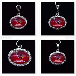 Silver Pendant Charms Rhinestone Arizona Cardinals Charms for Bracelet Necklace for Women Men Football Fans Paty Fashion