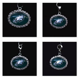 Silver Pendant Charms Rhinestone Philadelphia Eagles Charms for Bracelet Necklace for Women Men Football Fans Paty Fashion 2017