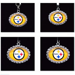 Silver Pendant Charms Rhinestone Pittsburgh Steelers Charms for Bracelet Necklace for Women Men Football Fans Paty Fashion 2017