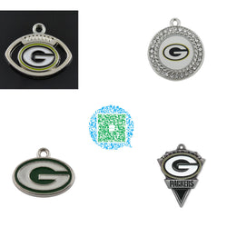 Skyrim 10pcs a lot nickle and lead free metal Green Bay Packers enamel diy charms jewelry