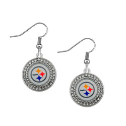 Skyrim Fashion crystals Pittsburgh Steelers dangle earrings for women or men