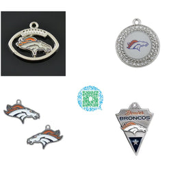 Skyrim Perfect Football Fan Gift Denver Broncos Charms and Pendants For Necklace Jewelry Fashion Gift for Women/Men