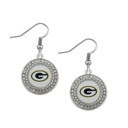 Skyrim Sports retail Green Bay Packers long drop earrings for women bohemian jewelry High Quality Zinc Alloy earring for Women