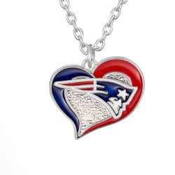 Skyrim Sporty New England Patriots enamel pendant necklace jewelry Zinc Alloy Link Chain for Women Jewelry Gift