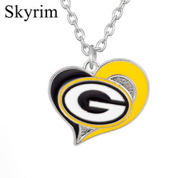 Skyrim Sporty Style Green Bay Packers Pendant Necklace Zinc Alloy Chain For Women & Men Necklace Jewelry for Making Gift