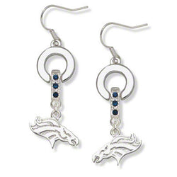 Skyrim Super bowl sports Denver Broncos crystal women earring jewelry