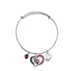 Skyrim Swirl Heart Shaped Arizona Cardinals Bangle