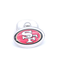 Snap Button 18mmX25mm San Francisco 49ers Charms Snaps Bracelet for Women Men Football Fans Gift Paty Birthday Fashion 2017