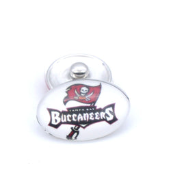 Snap Button 18mmX25mm Tampa Bay Buccaneers Charms Snaps Bracelet for Women Men Football Fans Gift Paty Birthday Fashion 2017