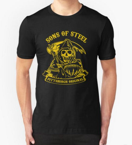 Summer Fashion Tees Son Of Steels Pittsburgh Steelers T Shirts Men Short Sleeve Cotton T-shirt Funny s Clothing