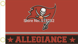 Tampa Bay Buccaneers Allegiance Flag 3x5 FT 150X90CM NFL Banner 100D Polyester Custom flag grommets 6038, free shipping