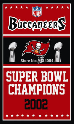 Tampa Bay Buccaneers Super Bowl Champions Flag 150X90CM Banner 100D Polyester3x5 FT flag brass grommets 001, free shipping