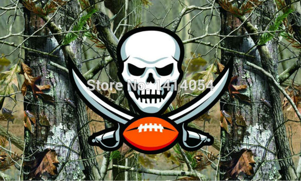 Tampa Bay Buccaneers real tree camo  Flag 150X90CM Banner 100D Polyester3x5 FT flag brass grommets 001, free shipping