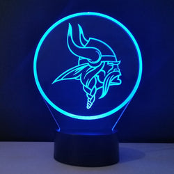 Team Logo 3D Lampe Minnesota Vikings Nightlight Color changing Children Lampe Enfant Dry Batteries Lamps Decorative Lampen