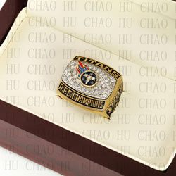 Team Logo wooden Case 1999 AFC Tennessee Titans AFC Football world Championship Ring 10-13 size solid back