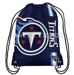 Tennessee Titans Drawstring Bags Men Sports Backpack Digital Printing Pouch Customize Bags 35*45cm Sports US Fottball Team