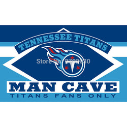 Tennessee Titans Fans Only Flag MAN CAVE Banner Flag World Series Football Team 3ft X 5ft Tennessee Titans Flag