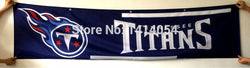 Tennessee Titans  Flag 240X60CM Banner 100D Polyester 2X8 FT flag brass grommets 001, free shipping