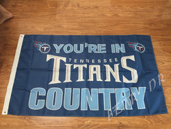 Tennessee Titans Flag 3x5 FT Banner 100D polyester NFL flag, shipping free