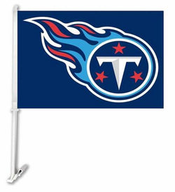 Tennessee Titans car Flag 30x45cm Polyester  Banner with  plastic flag pole