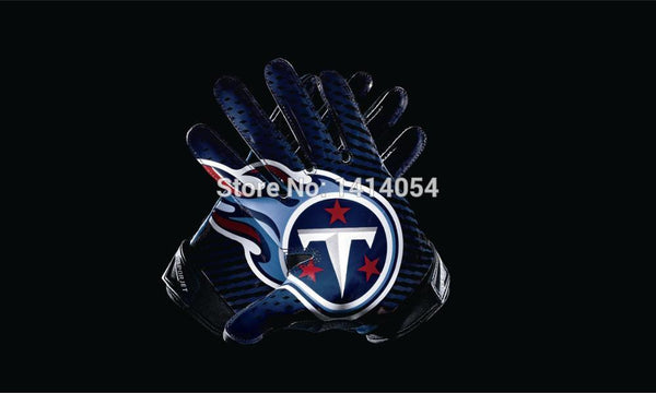 Tennessee Titans  gloves Flag 150X90CM Banner 100D Polyester3x5 FT flag brass grommets 001, free shipping
