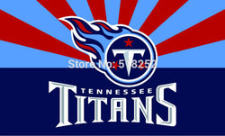 Tennessee Titans with new style Flag  3x5 FT 150X90CM NFL Banner 100D Polyester Custom flag grommets 6038,free shipping
