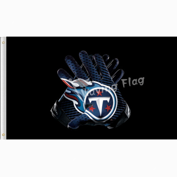 Tennessee titans gloves flag 3x5 ft flag 100D Polyester Custom flag 90cmx150cm Outdoor free shipping