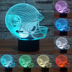 Touch sensor lamp 3D Light LED Jacksonville Jaguars Football Helmet Sport Cap LED Night Light Table Lamp As Child Gift IY803678