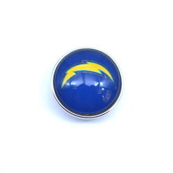 USA Fashion Sports san diego chargers football Snap Button Fit Love Football Bracelets  Los Angeles Chargers