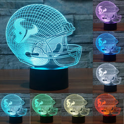 USB table desk Lamp touch switch 3D LED night light Baseball NFL Houston Texans 3D Night Light 7 color changing light IY803671
