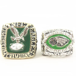 Unisex Adult NFC 1980/2004 Philadelphia Eagles Championship Ring Solid Size 11 Drop Shipping