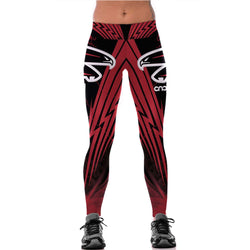 Unisex Atlanta Falcons Fitness Leggings Fiber Elastic Hiphop Party Cheerleader Rooter Workout Pants Team Logo Trousers Dropship