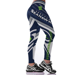 Unisex Seattle Seahawks Fitness Leggings Fiber Elastic Hiphop Party Cheerleader Rooter Workout Pants Logo Trousers Dropshipping