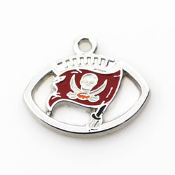 Wholesale 20pcs/lot football team Sports Tampa Bay Buccaneers Dangle Charms Hanging bracelet&necklace floating charms Jewelry