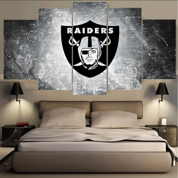 Wholesale New Arrivals Oakland Raiders Paintings Wall Art Home Decoration Unframed Canvas Oil Painting For Living Room Bedroom