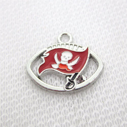 Wholesale price! 100pcs America Football Sports Tampa Bay Buccaneers Charms Dangle Hanging Charms DIY Jewelry pendants charm