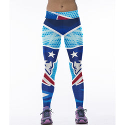 Woman Yoga Pants Fitness Fiber Sport Leggings New England Patriots Sports Tights Trousers Exercise Training Clothing Sportswear