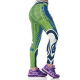 Woman Yoga Pants Fitness Fiber Sport Leggings Seattle Seahawks Sports Tights Trousers Exercise Training Gym Clothing Sportswear