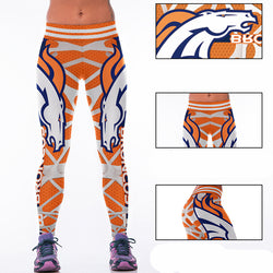 Woman Yoga Pants Fitness Fiber Sports Denver Broncos Leggings Tights American football Trousers Exercise Training Sportswear